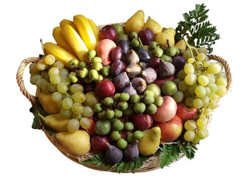 Exemple d'une corbeille de 12 KG - Fruits d'Automne