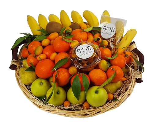 Exemple d'une corbeille de 6 KG - Fruits bio et fruits secs