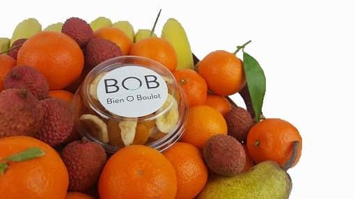 Féderer avec des fruits en entreprise.